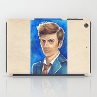 david tennant iPad Cases featuring David Tennant 10th Doctor Who by Tiffany Willis