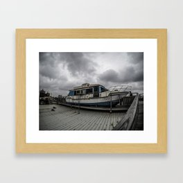 Beached Boat Framed Art Print