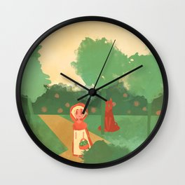 Little Red (Ver 2) Wall Clock
