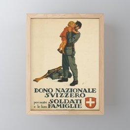 Advertisement dono nazionale svizzera peri nostri Framed Mini Art Print