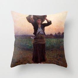 jules Breton - Sheperd's Star Throw Pillow