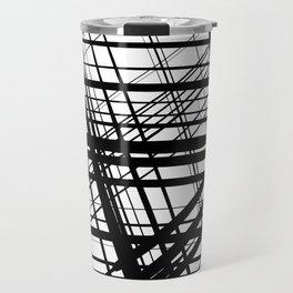 Black geometry Travel Mug