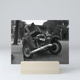 Vintage Wrecked Automobile - Circa 1933 Mini Art Print