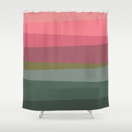 Pinks and greens Shower Curtain