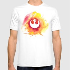 Star Wars Rebel Alliance Watercolor 2X-LARGE White Mens Fitted Tee