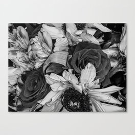 Roses and Sunflowers pt 2 Canvas Print