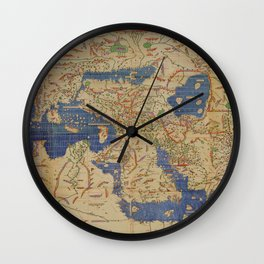 World Map 1154 Wall Clock
