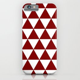 TRIANGLES (MAROON & WHITE) iPhone Case