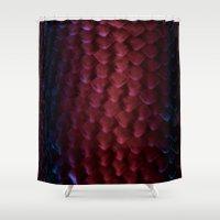 daenerys targaryen Shower Curtains featuring Drogon Skin by Featured Interiors