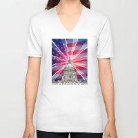 politics V-neck T-shirts featuring The World of Politics by politics