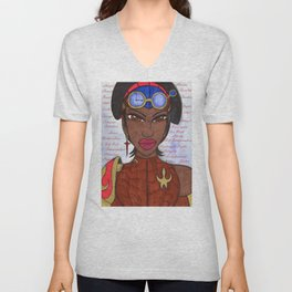 The Reasons of a Steampunk Liberator Unisex V-Neck