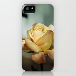 Yellow and Red Mid City Rose  iPhone Case