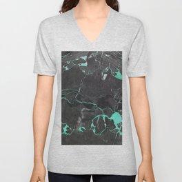 Grey and Blue Marble Unisex V-Neck
