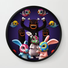Lucha Rabbit Wall Clock