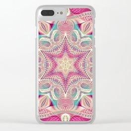 Flower Of Life Mandala (Sweet Embrace) Clear iPhone Case