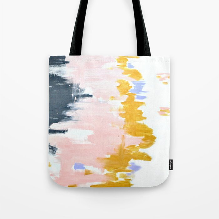 Multicolor spring abstract Tote Bag