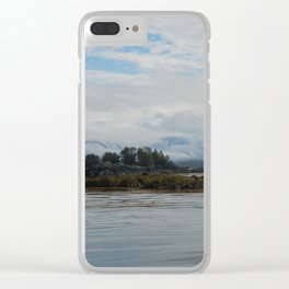 Cloudy Sitka Clear iPhone Case