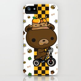 Cute Kuma Brown Bear iPhone Case