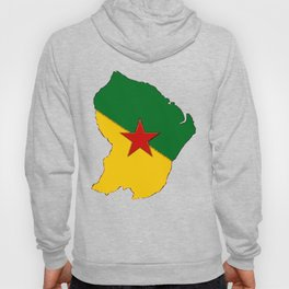 French Guiana Map with French Guianan Flag Hoody