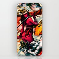 misfits iPhone & iPod Skins featuring Samurai-Sugar x misfits 2 by kunkka
