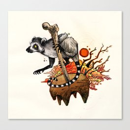 Ring-Tail Canvas Print
