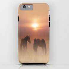 Horses in a misty dawn Tough Case iPhone 6