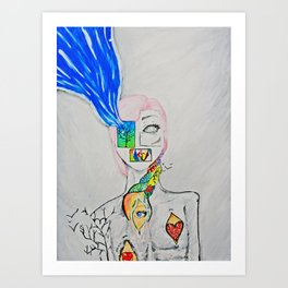 The Pieces of Me Art Print