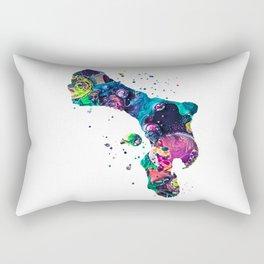 Bonaire Map Rectangular Pillow