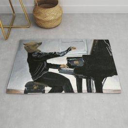 Hyena Piano Music Player Fantasy Art Rug