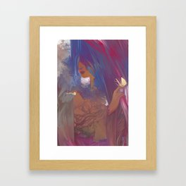in the mist Framed Art Print