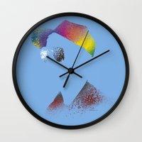 calvin and hobbes Wall Clocks featuring Calvin? by Arian Noveir