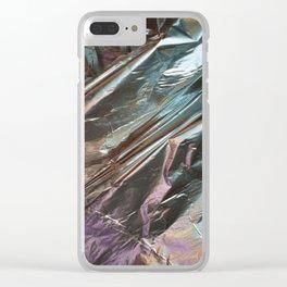 Faux Metalic Foil Clear iPhone Case