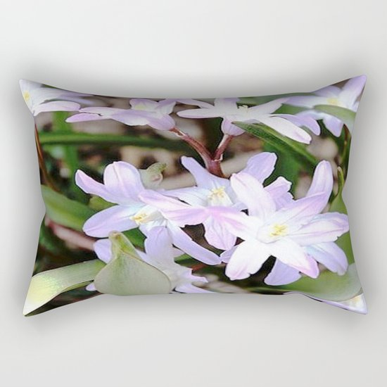 Delicate Beauty - Glory In The Snow - Pink Rectangular Pillow