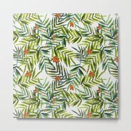 Palm Leaves Pattern 2 Metal Print