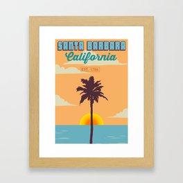 Santa Barbara. Framed Art Print