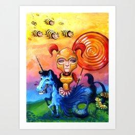 The Candy Warrior Art Print