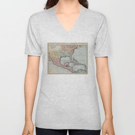 Vintage Map of The Gulf of Mexico (1732) Unisex V-Neck