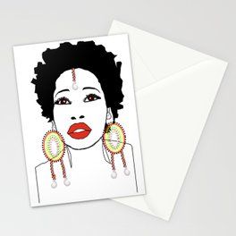 Maasai Earrings Stationery Cards