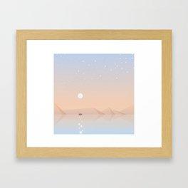 Fisherman fishing Framed Art Print