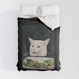 Woman Yelling at Cat Meme-4 Comforters