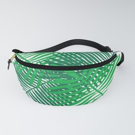 Modern Tropical Palm Leaves Painting white background Fanny Pack
