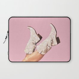 These Boots - Glitter Pink Laptop Sleeve