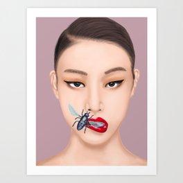 She Speaks Bug Art Print