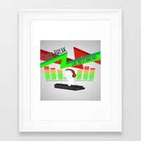 cryaotic Framed Art Prints featuring DJ! CRYAOTIC by Danielbpc