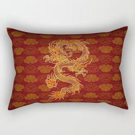 Traditional Chinese Red Dragon                                         Rectangular Pillow