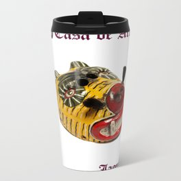 Ceremonial Jaguar Mask Casa de Artes - Antigua Guatemala Metal Travel Mug