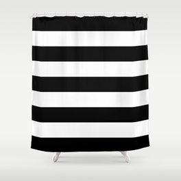 BLACK WHITE STRIPES XL Shower Curtain