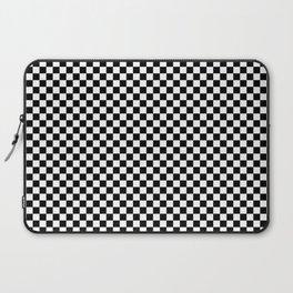 Black White Checks Minimalist Laptop Sleeve