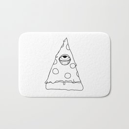 Illuminati Pizza - Swag Pepperoni Confirmed BLACK Bath Mat