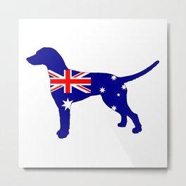 Australian Flag - Dalmatian Metal Print